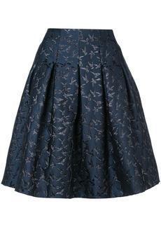 Oscar de la Renta embroidered bird skirt - Blue