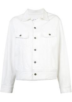 Oscar de la Renta embroidered denim jacket - White