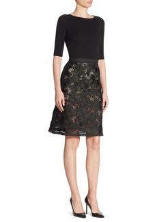 Oscar de la Renta Embroidered Lace Dress