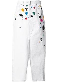 Oscar de la Renta embroidered skirt - White