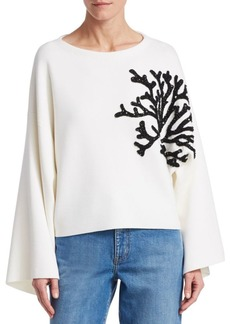 Oscar de la Renta Embroidered Sweater