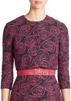 Oscar de la Renta Embroidered Tweed Jacket