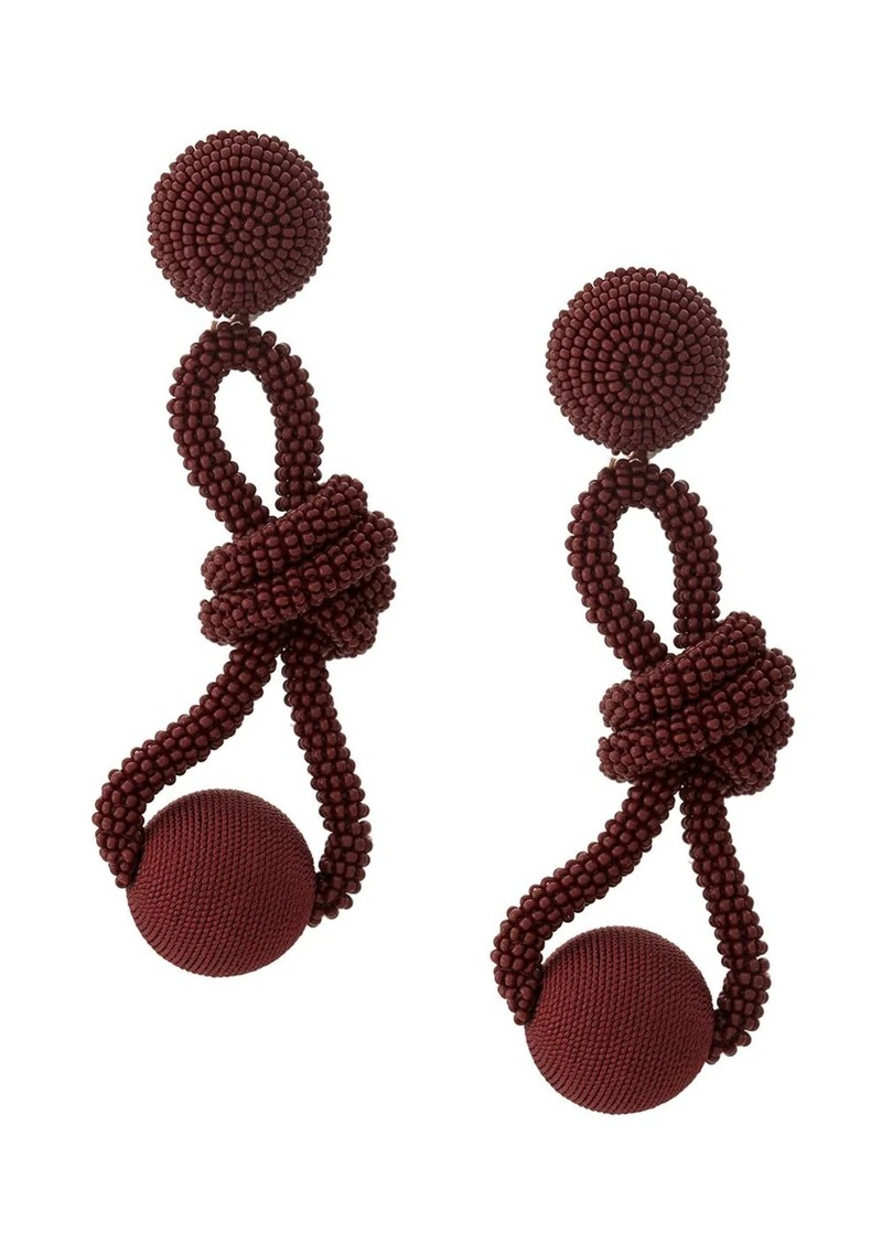 Oscar de la Renta beaded knot earrings