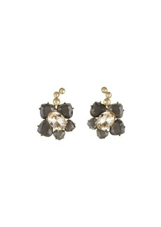 Oscar de la Renta Faceted Resin Flower Pierced Earrings