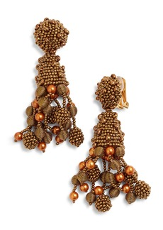 Oscar de la Renta Falling Tassel Earrings
