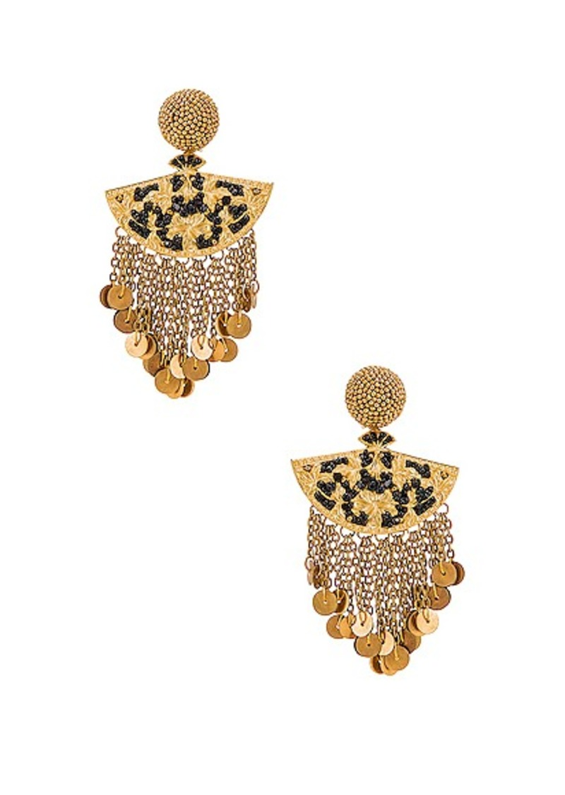 Oscar de la Renta Fan Chain Earrings