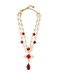 Oscar De La Renta Faux-pearl and crystal necklace