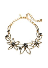 Oscar de la Renta Faux Pearl and Stone-Accented Floral Statement Necklace