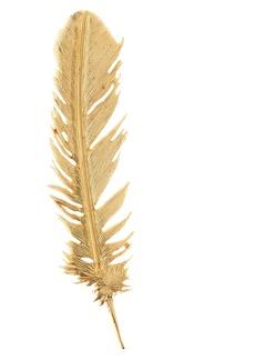 Oscar de la Renta Feather Brooch