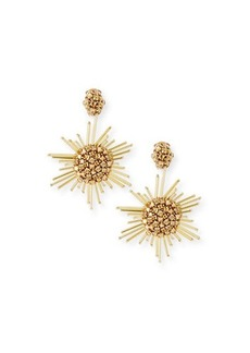 Oscar de la Renta Fireball Drop Clip-On Earrings