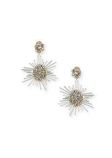 Oscar de la Renta Fireball Drop Clip-On Earrings