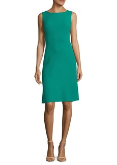 Oscar de la Renta Flared Wool Dress