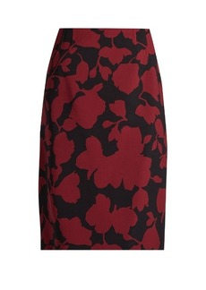 Oscar De La Renta Floral-brocade pencil skirt