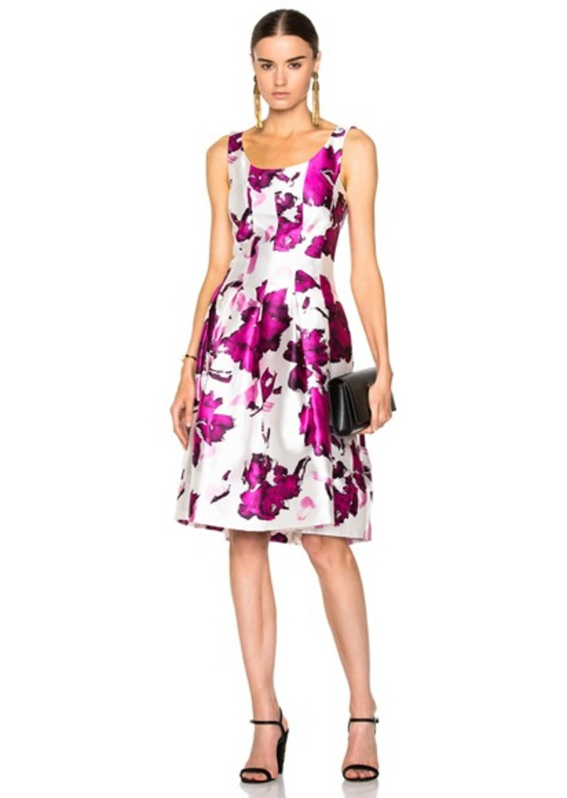 Oscar de la Renta Floral Print Day Dress