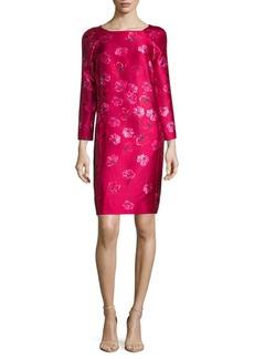 Oscar de la Renta Floral-Print Shift Dress