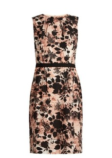 Oscar De La Renta Floral-print silk-blend seersucker dress