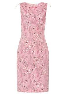 Oscar De La Renta Floral-print silk-mikado dress