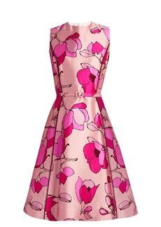 Oscar De La Renta Floral-print silk-mikado midi dress