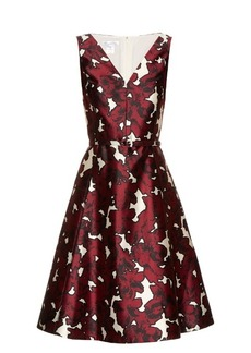 Oscar De La Renta Floral-print silk-twill dress
