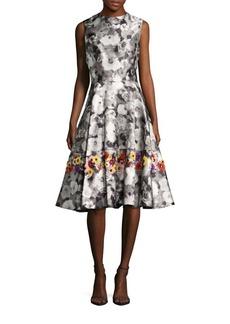 Oscar de la Renta Floral Printed Dress