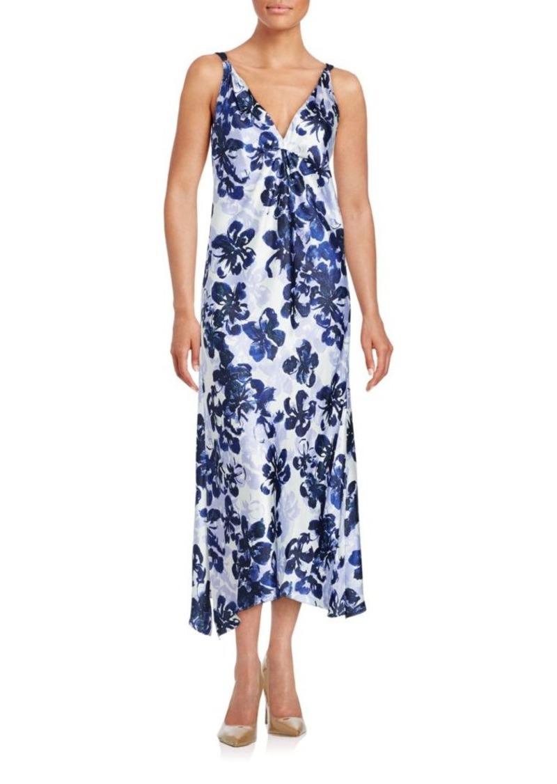 Oscar de la Renta Floral Sleeveless Nightgown