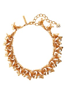 Oscar de la Renta Flower Necklace