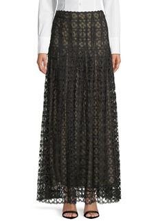 Oscar de la Renta Full-Length Lace Skirt
