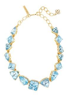 Oscar de la Renta Gallery-Set Crystal Necklace