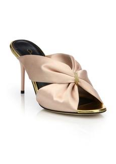 Oscar de la Renta Glenn Satin Mule Sandals