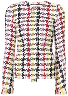 Oscar de la Renta graphic-print tweed jacket - Multicolour