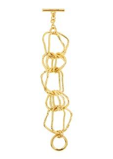 Oscar de la Renta Hammered Link Bracelet