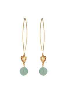 Oscar de la Renta Heart & Bead-Drop Earrings
