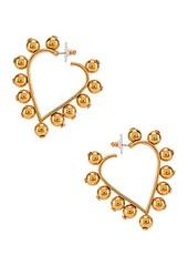 Oscar de la Renta Heart Earrings