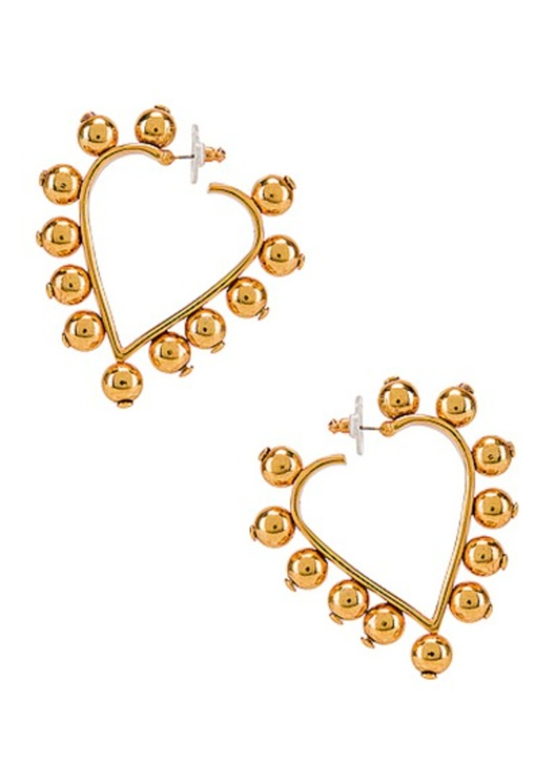 Oscar de la Renta Heart Earrings