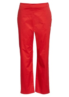 Oscar de la Renta High Waist Crop Straight Leg Pants