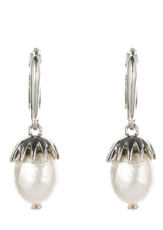 Oscar de la Renta Imitation Pearl Drop Earrings