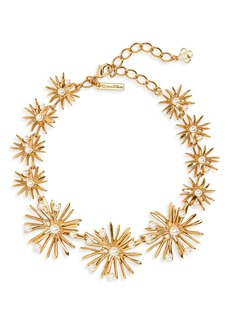 Oscar de la Renta Imitation Pearl Starburst Collar Necklace
