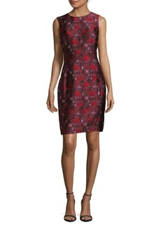 Oscar de la Renta Jacquard Sheath Dress