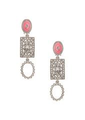 Oscar de la Renta Jeweled Drop Earrings