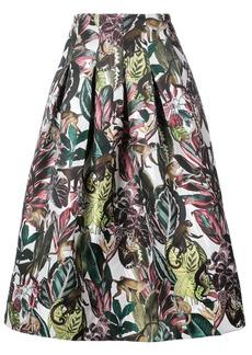 Oscar de la Renta jungle print midi skirt - White