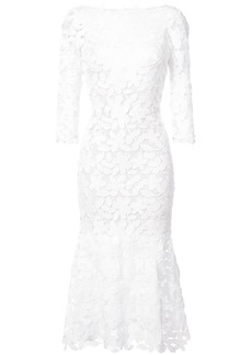 Oscar de la Renta lace cocktail dress - White