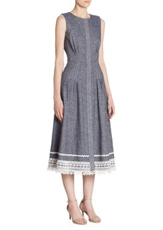 Oscar de la Renta Lace Sleeveless Dress