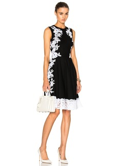 Oscar de la Renta Lace Trim Dress