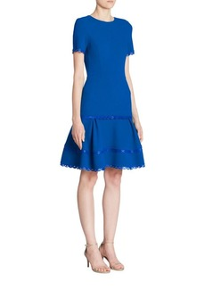Oscar de la Renta Laser Cut Dress