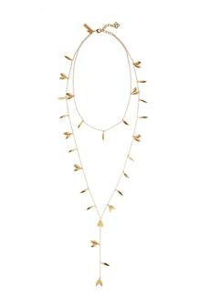 Oscar de la Renta Leaf Layered Y-Necklace