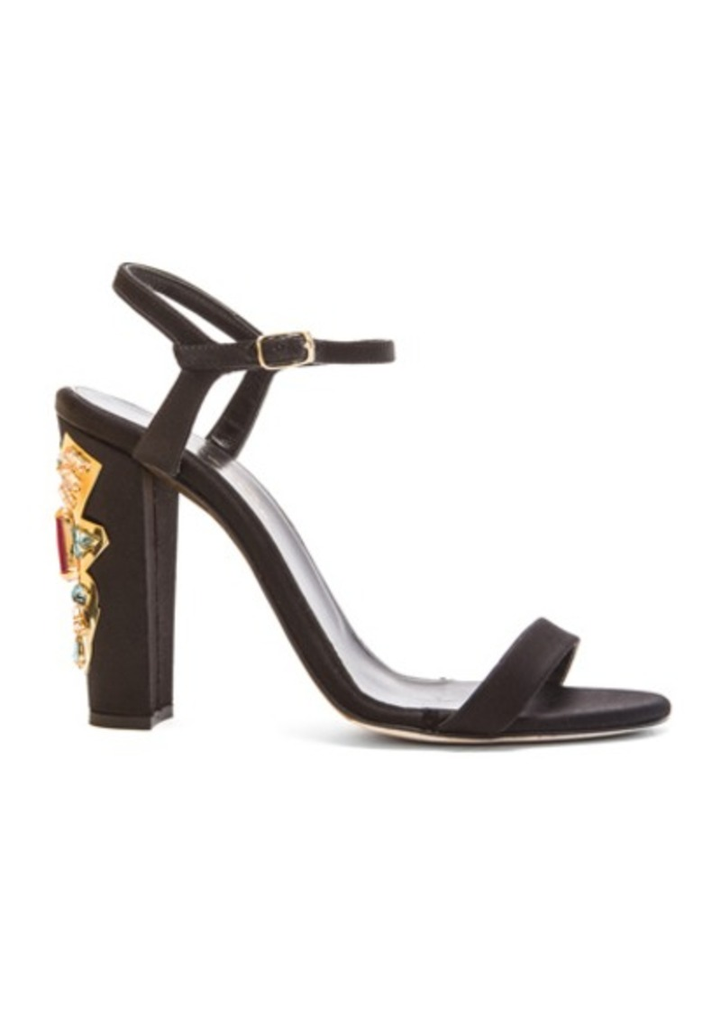 Oscar de la Renta Lemmy Satin & Crystal Sandals