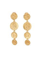 Oscar de la Renta Linked Coin-Clip Earrings
