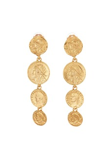 Oscar de la Renta Linked Coin-Clip Earrings