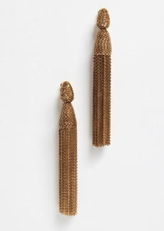 Oscar de la Renta Long Chain Tassel Earrings