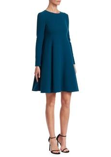 Oscar de la Renta Long-Sleeve Trapeze Dress